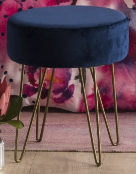 NEW-Ombre-Home-Distorted-Blooms-Velvet-Stool on sale