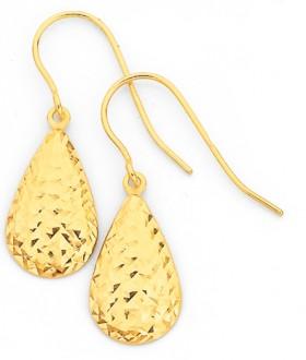 9ct-Gold-Pear-Drop-Earrings on sale