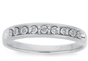 9ct-White-Gold-Diamond-Anniversary-Band on sale