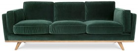 Dahlia-3-Seat-Sofa-in-Cozy-Pine-Green-Velvet on sale
