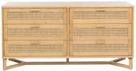 Raffles-6-Drawer-Dresser-in-Honey on sale