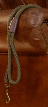 Harmony-Faux-Leather-Dog-Lead-Olive on sale