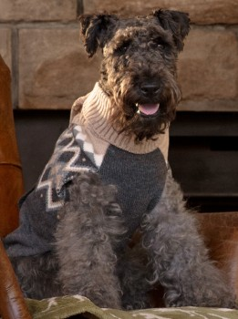 Harmony-Fair-Isle-Pocket-Sweater-Grey on sale