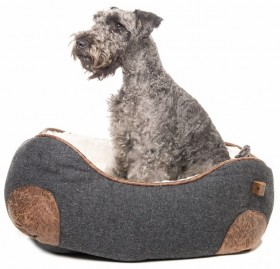 You-Me-Urban-Menswear-Rectangle-Dog-Basket-Charcoal on sale