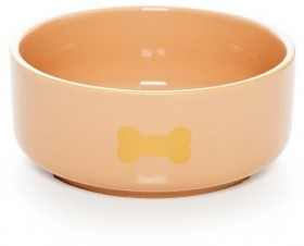 Harmony-Ceramic-Dog-Bowl-Tan on sale