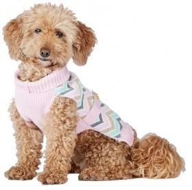 Bond-Co-Chevron-Dog-Sweater-Pink on sale