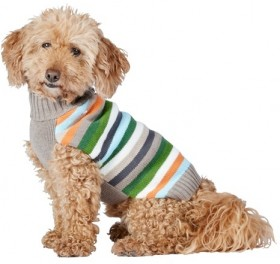 Bond-Co-Stripe-Dog-Sweater-Brown-Orange on sale
