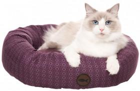 Harmony-Geo-Print-Round-Cat-Bed-Prune on sale