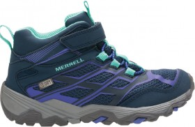 Merrell-Kids-Moab-FST-Mid-WP-Navy-Hiking-Shoes on sale