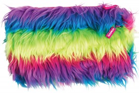 Rainbow-Fluffy-Pencil-Case-Double-Zip on sale