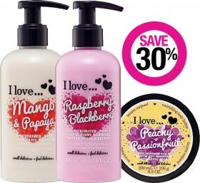 Save-30-on-I-Love...-Bath-Body-Range on sale