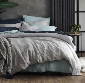 NEW-Living-Space-Linen-Quilt-Cover-Set on sale