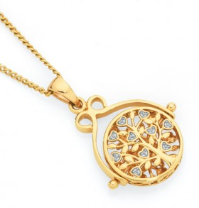 9ct-Gold-Tree-of-Life-Spinner-Pendant on sale