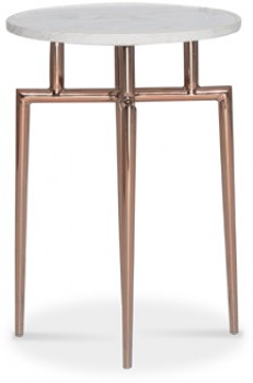 Stiletto-Occasional-Table-in-MarbleRose-Gold on sale