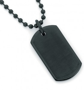 Stainless-Steel-Black-Plated-Steel-Dogtag on sale