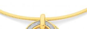 9ct-Gold-42cm-Reversible-Necklet on sale
