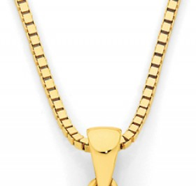 9ct-Gold-45cm-Solid-Box-Chain on sale