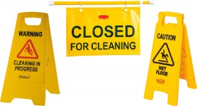 Cleaning-Warning-Signs on sale