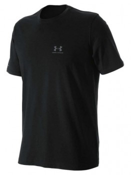 Under-Armour-Mens-Charged-Cotton-Tee-Black on sale