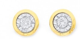 9ct-Gold-Diamond-Stud-Earrings on sale