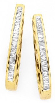 9ct-Gold-Diamond-Huggie-Earrings on sale