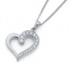 Sterling-Silver-Pave-CZ-Side-Open-Heart-Pendant on sale