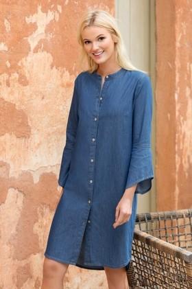 Emerge-Flare-Sleeve-Denim-Dress on sale