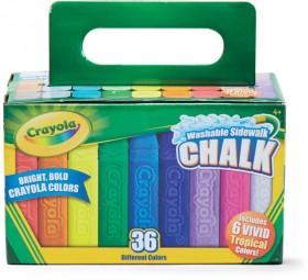 Crayola-36-Pack-Washable-Sidewalk-Chalk on sale