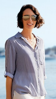 Khoko-Collection-Casual-Stripe-Blouse on sale