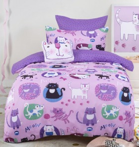 40-off-Kids-House-Crazy-Cat-Quilt-Cover-Set on sale