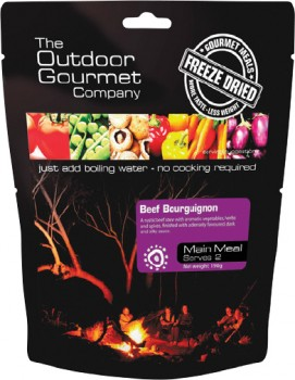 Outdoor-Gourmet-Company-Beef-Bourguignon-Freeze-Dried-Food-2-Serve on sale