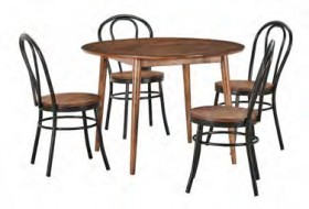 NEW-Tara-5-Piece-Dining-Set-with-Replica-Bentwood-Chairs on sale