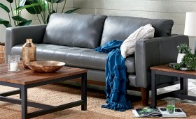 NEW-Marley-3-Seat-Leather-Sofa-in-Lawson-Anthracite on sale