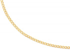 9ct-Gold-50cm-Solid-Curb-Chain on sale