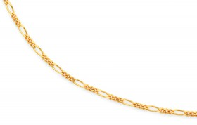 9ct-Gold-45cm-Solid-Figaro-Chain on sale