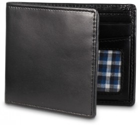 Blaq-Slimline-Bi-Fold-Wallet-in-Black on sale