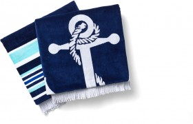 Heritage-Jacquard-Velour-Beach-Towel-with-Fringing on sale