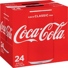 Coca-Cola-Soft-Drink-24x375mL on sale