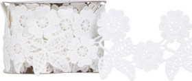 White-Lace-Trim on sale