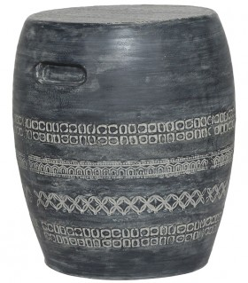 Barrel-Side-Table-in-Charcoal on sale