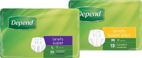 Depend-Briefs-Super-Super-Plus-Unisex on sale