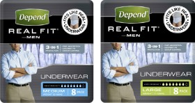 Depend-Real-Fit-Underwear-for-Men on sale