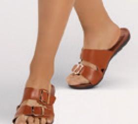 Womens-Buckle-Comfort-Sandal on sale