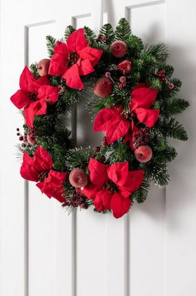 Poinsettia-Frosted-Wreath on sale