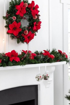 6-Foot-Poinsettia-Frosted-Garland on sale
