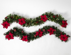 9-Foot-Poinsettia-Frosted-Garland on sale