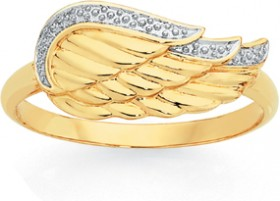 9ct-Gold-Angel-Wing-Ring on sale