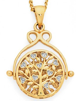 9ct-Gold-Two-Tone-Gold-Filigree-Spinner-Disc-Pendant on sale