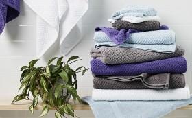Living-Space-Herringbone-Towel-Range on sale