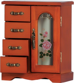 Wooden-4-Drawer-Jewellery-Box on sale